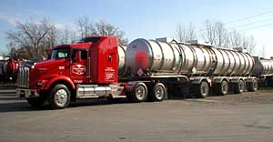 Quad axle - stainless steel trailer.