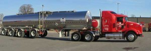 Quad axle - insulated stainless steel trailer.