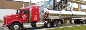 Tandem axle - insulated stainless steel trailer.