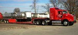 Tandem axle - double dropdeck trailer.
