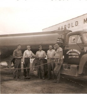 Employees of Harold Marcus Limited posing for a picture. (Est. late 1950's)