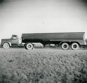 1955 Tractor and trailer. (January 1958)