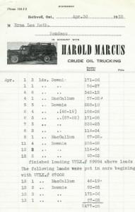 Loading Rodney oil onto UTXL rail cars for $0.15 per barrel. (April 1955)